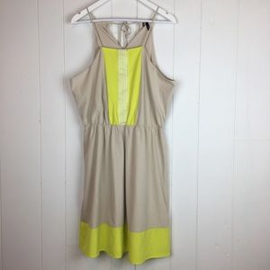 Maurices A Line Dress XL Halter Neck Tan Yellow